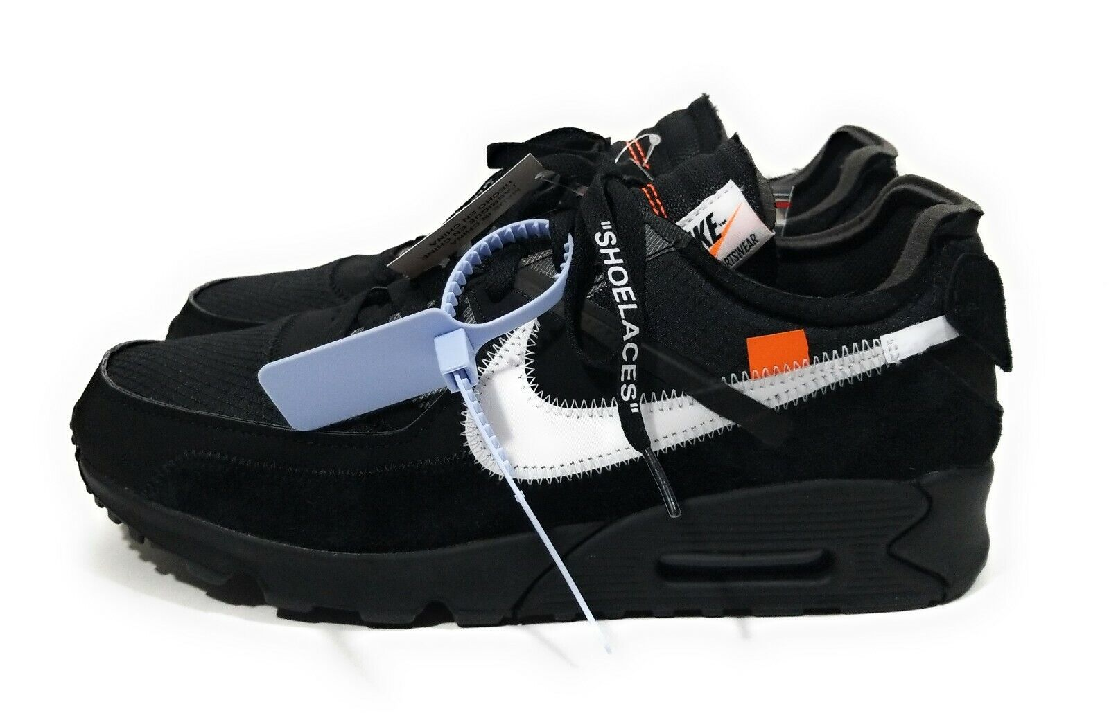 Off White Nike Air Max 90 Mens Running shoes Black White Size 11