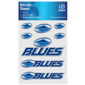 NZ Super Rugby Union Auckland Blues iTag UV Sticker Sheet