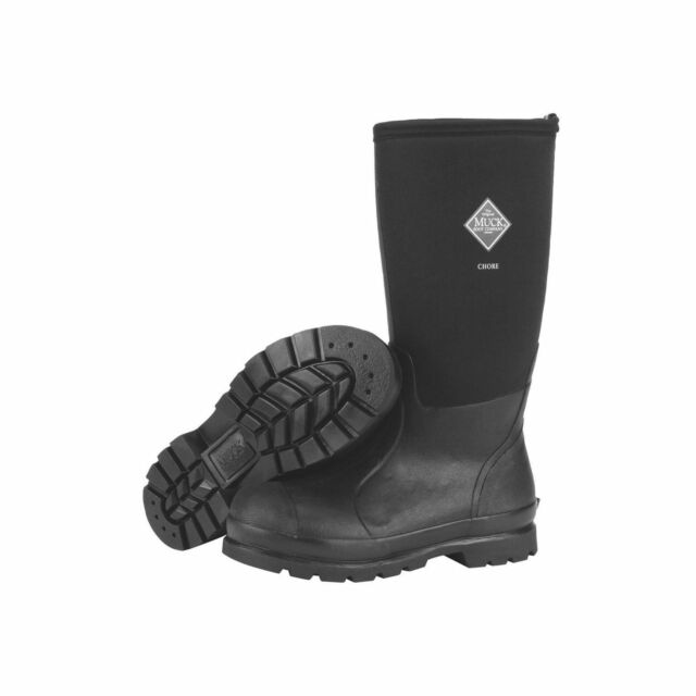 61d08f1b733 Muck BOOTS Mens Chore Hi Wateproof Rubber Work Boot Black 13 Chh000a013