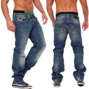 Diesel-vaqueros-Larkee-0802e-802e-Pantalones-de-hombre-Regular-Recto-Azul