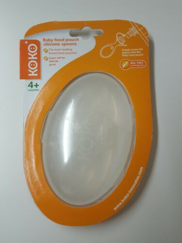 Koko Silicone Cuillères Alimentaire Pochette cuillères Age 4 Mois BPA /& Phthalate Free