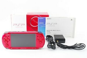 Sony-PSP-3000-Radiant-Red-Console-Handheld-system-w-Box-and-Charger-Excellent