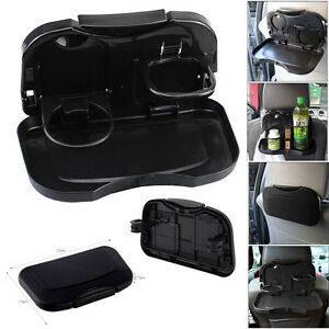 Foldable Car Back Seat Table Tray Stand Food Cup Drink Bottle Rack Holder AC06