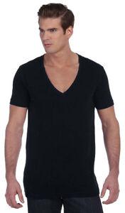 Bella-Canvas-Mens-Unisex-Deep-V-Neck-T-Shirt-Tee-XS-2XL-Men-039-s-Ladies-3105