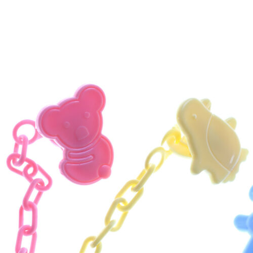 2pcs Cartoon Baby Pacifier Chain Clip Anti Lost Dummy Soother Nipple Holder CN