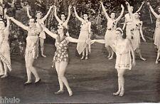 BD685 Carte Photo vintage card RPPC Femme woman ballet danse costume robe