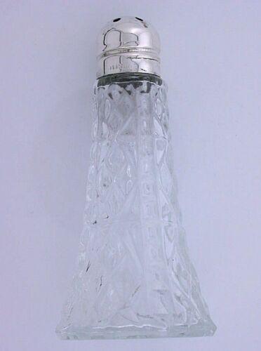 ONE  Vintage Sterling Silver Glass Salt Pepper Shakers Antique Vintage ebs5365