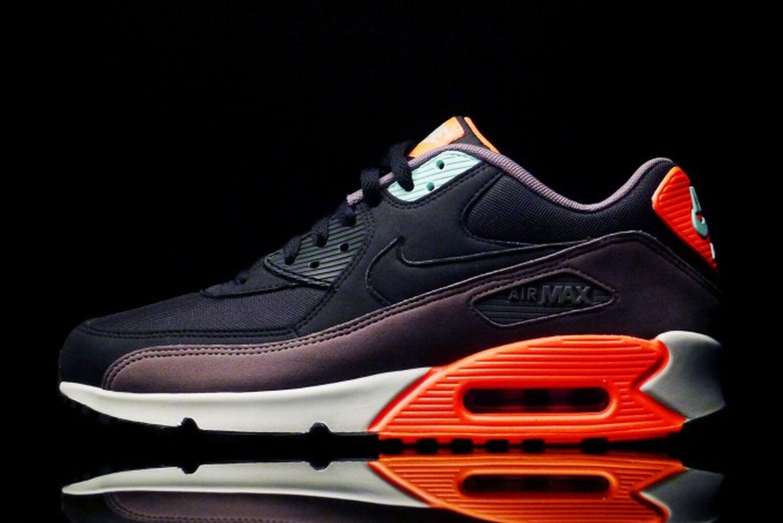 Nike Air Max 90 Essential shoe size 9.5 537384-036 Mens Black Hyper Crimson