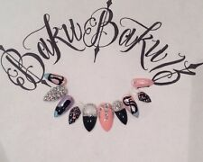 Hand Painted False Nails 5 Sets Different Designs Full Cover Tips