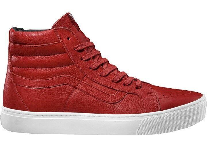 Vans Calzado Projoector Tobillo Zapatos de Cuero para Patinar Rojo SK8-Hi Copa