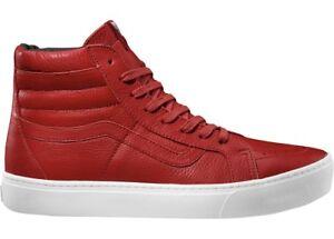 Zapatos Para Copa Tobillo De Cuero Rojo Sk8 Vans Calzado Patinar Protector hi PTtqwnx7YS
