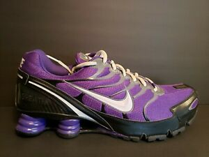 factory price f1f7b e4d8b Details about Nike Shox Turbo VI 6 ID Mens Size 15 Running Shoes White  Black Purple NZ TL X
