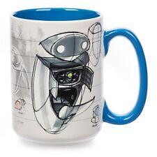 NEW DISNEY STORE EVE WALL-E CONCEPT ART CHARACTER MUG CUP WALLE  PIXAR