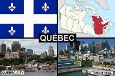 SOUVENIR FRIDGE MAGNET of PROVINCE OF QUEBEC CANADA
