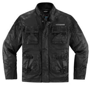 ICON 1000 FORESTALL Textile/Leathe<wbr/>r Motorcycle Jacket (Black) 3XL (3X-Large)