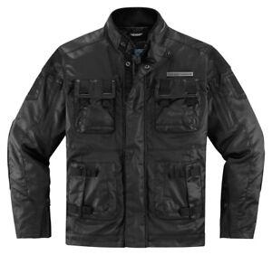 ICON 1000 FORESTALL Textile/Leathe<wbr/>r Motorcycle Jacket (Black) 3XL (3X-Large)