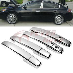 2006 Ford Fusion Door Handle >> Triple Chrome Door Handle Cover Trim Moulding Bezel For Nissan Altima Maxima FM   eBay
