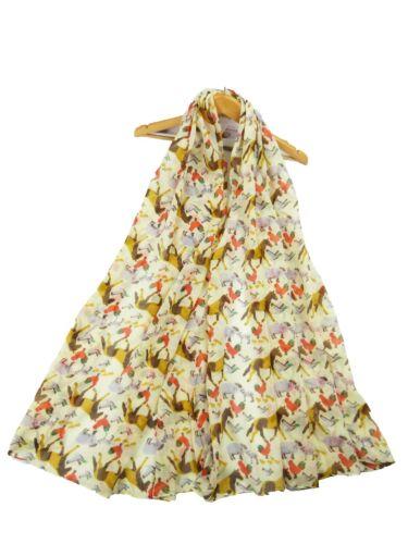 Womens  Scarf Fashion Farm Animal  Wrap Neck Shawl Soft Stole Long Soft Scarves