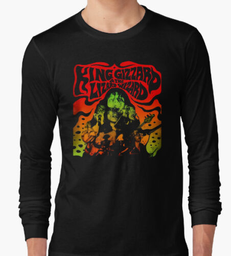 KING GIZZARD AND THE WIZARD LIZARD LONG SLEEVE T SHIRT TOP PSYCHEDELIC ROCK NEW