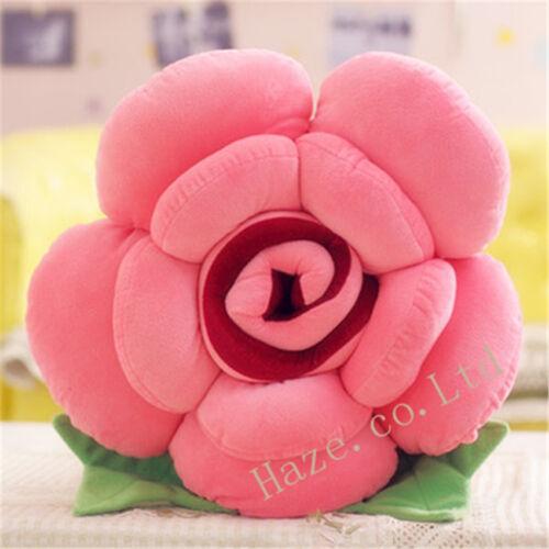 Rose Flower Shape Bed Sofa Chair Throw Cushion Lumbar Pillow Lover Gift