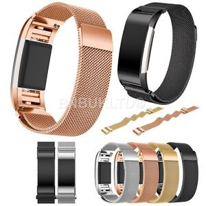 Milanese-Stainless-Steel-Watch-Strap-For-Fitbit-Charge-2-Smart-Watch
