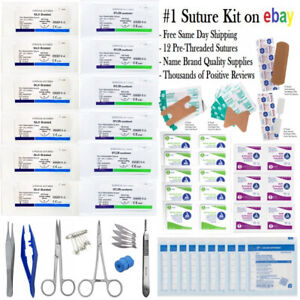 SURGICAL SUTURE KIT ADVANCED MEDICAL KIT FAMILY FIRST AID PACK SURVIVAL PREPPING