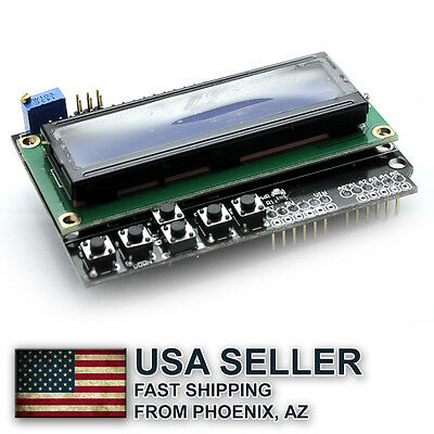 LCD 1602 Keypad screen shield for Arduino UNO - free shipping from Phoenix, AZ