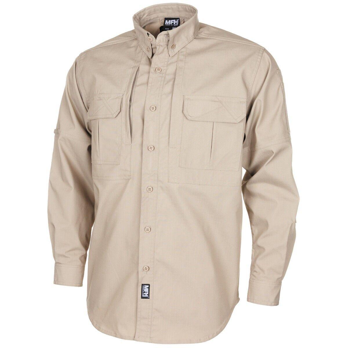 65ba24f93136 MFH Camicia uomo militare Tattico casual campeggio Teflon St. Kaki Rip  Outdoor ntsymh4655-Camicie casual e maglie