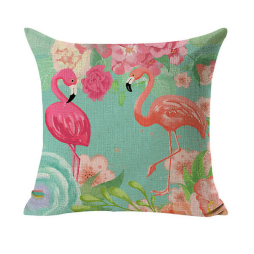 Flamingo Bleu Taie D/'oreiller Coussin Housse Coussin 45x45 Fermeture Eclair p00de0122