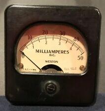 Vintage Weston Instruments Radio Milliamperes Dc Model 301 F27