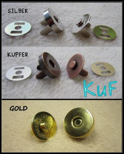 5 MAGNET-Verschluss 18 mm RUND Magnetknöpfe