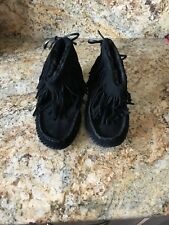 67ee831959ac item 4 Tory Burch Collins Fringe Suede Shearling Ankle Boots Booties Color Black  Size 9 -Tory Burch Collins Fringe Suede Shearling Ankle Boots Booties Color  ...