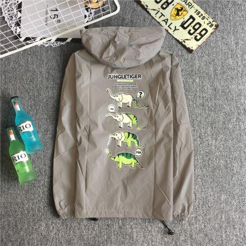 Reflective Jacket 3M Mens Waterproof Cycling Motorcycle Night Safe Coat Hoodie Z