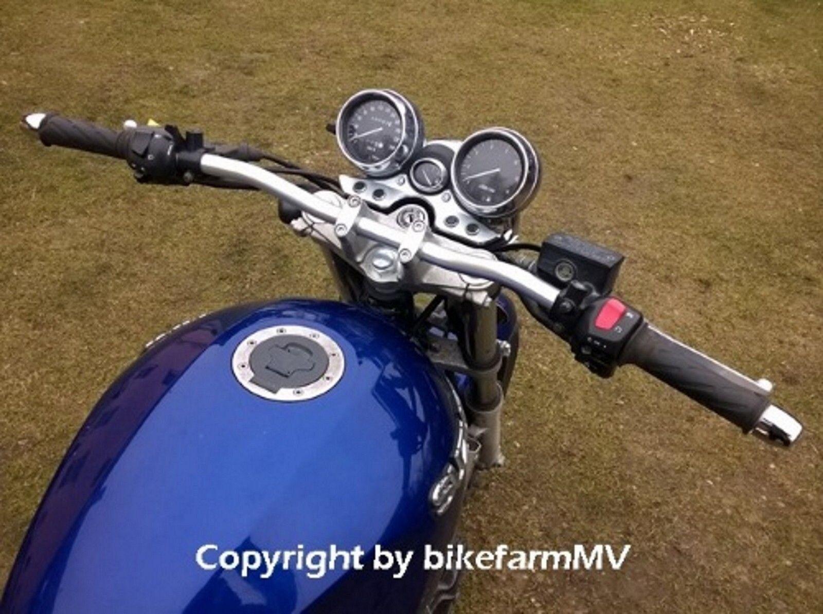 820 x 22 mm SILBER Spiegler Motorrad Lenker ABE Alu Super Bike ...
