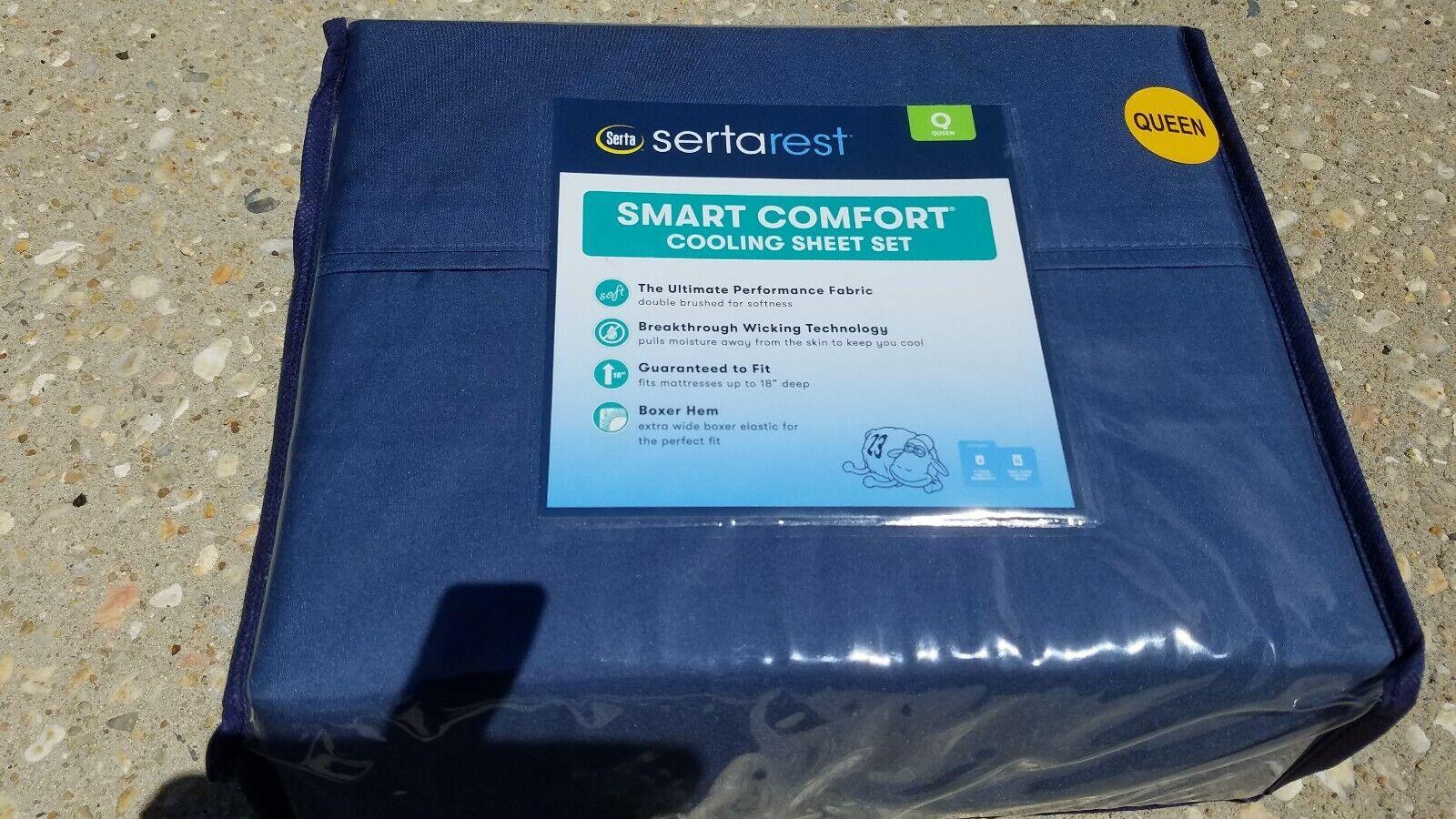 Serta rest Serta Smart Comfort Cooling Sheet Set Queen size    Cream