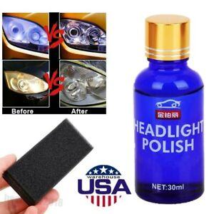 Pro Car Headlight Lens Restorate Repair Kit Polishing Cleaner Repair Liquid 30ml