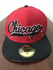 RARE-Chicago-Bulls-Fitted-New-Era-Hat-Size-7