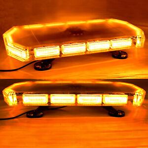 Barra-Lampeggiante-48-LED-Stroboscopica-600mm-Vecoli-Emergenza-Luce-Gialla-Ambra