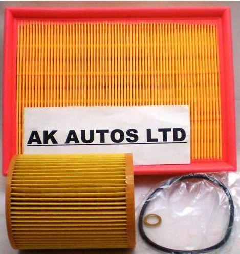 Para Bmw Serie 3 323i E46 98-00 2pc Piezas De Repuesto Aire Filtro De Aceite Kit