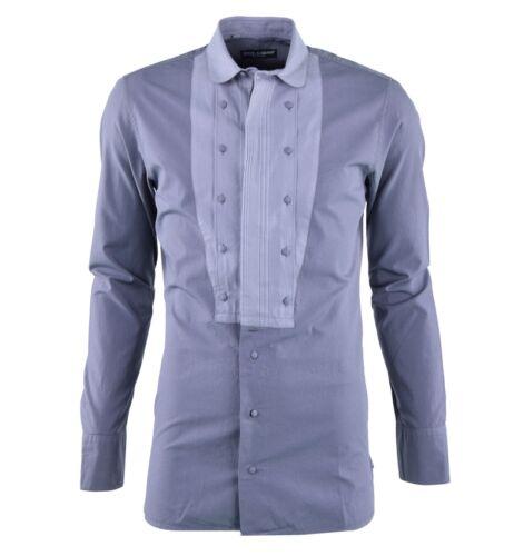 con Camicia Dolce in Gabbana grigia morbida Plastron 03721 camicia cotone grigio EE6w1qrxH