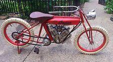 "VTG RARE Indian Pedal Motorbike Display Showroom Model Handmade 19"" T x 42'' L"