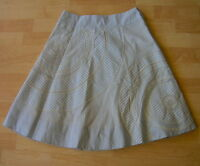 $128 Floreat Anthropologie Striped Circle Embroidery Skirt Size 6