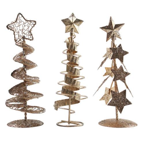 Petit Mini dessus de table arbre de Noël de Noël 15 cm Argent Or Rouge Decor eBuyGB