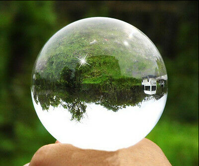 40mm Asian Pure Clear Magic Crystal glass Healing Ball Sphere + Stand FF33