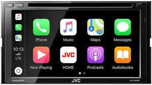 "JVC Double DIN 6.8"" Bluetooth TouchScreen Apple CarPlay Car Stereo   KW-V840BT"