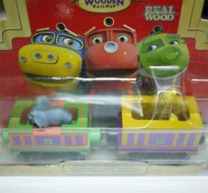 BOX-LEARNING-CHUGGINGTON-WOODEN-MAGNETIC-TRAIN-SAFARI-CARS-SET