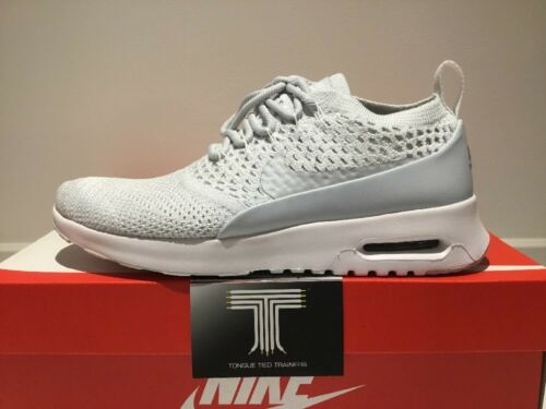 """~ Uk 7 Nike 5 Ultra Nike Max 881175 Ultra 002 Platinum Flyknit Max Air Flyknit Thea Air """"pure Thea Size UrwaxOUqf"""
