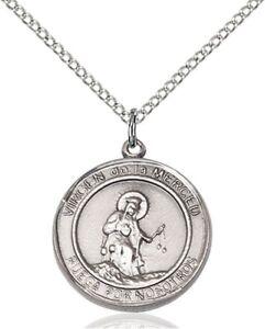 Sterling Silver Round Catholic Virgen De La Merce Medal Pendant 3//4 Inch