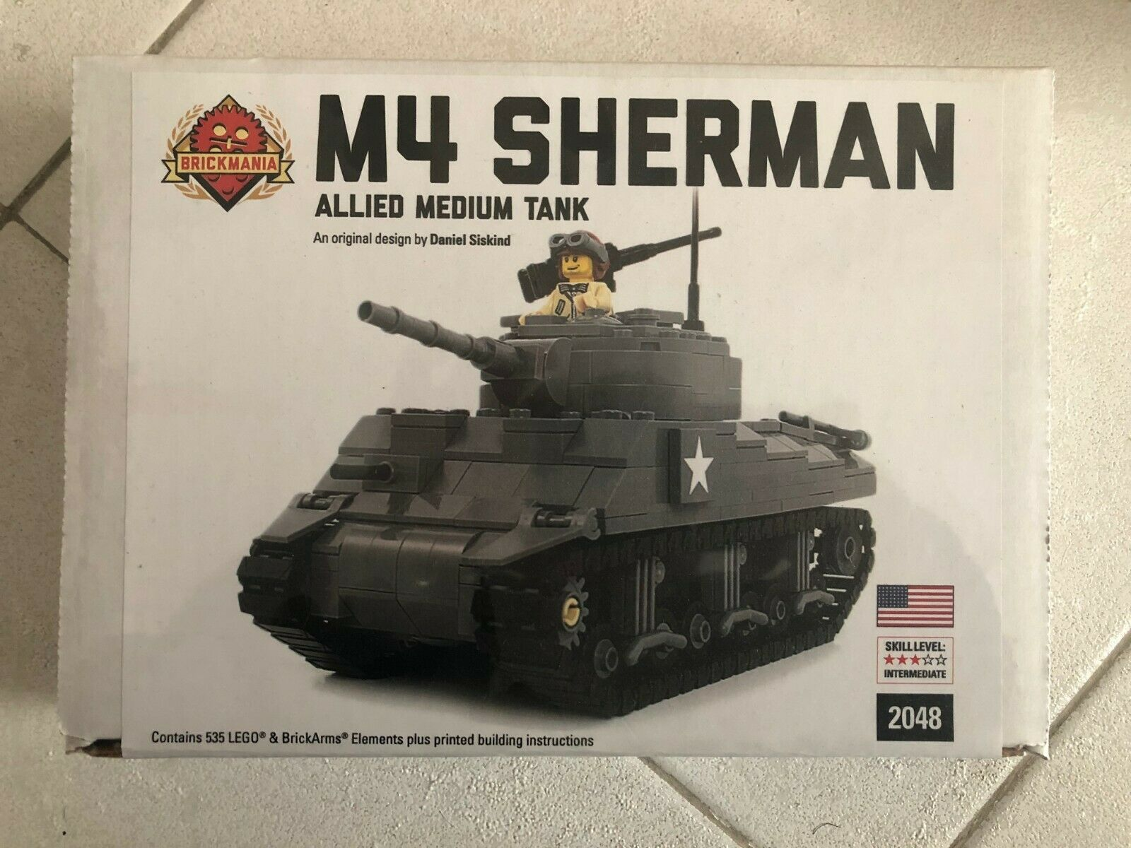 Lego Brickmania M4 Sherman Allied Medium Tank 2048 Nuovo. NEW   Ultra RARE