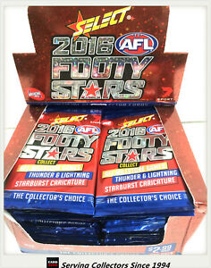 2016-Select-AFL-Footy-Stars-Trading-Cards-Sealed-Loose-Packs-Unit-of-18-packs